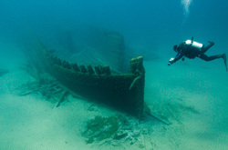 Great Lakes Shipwreck scuba dive